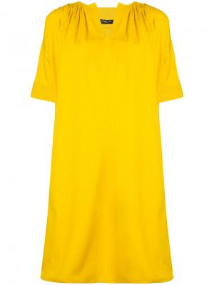 Платье шифт с рукавами фонарик Derek Lam. Цвет: жёлтый и оранжевый