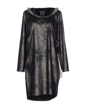 Короткое платье ED 2.0. Цвет: стальной серый