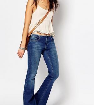 Northmore Denim Расклешенные джинсы с необработанным поясом. Цвет: синий