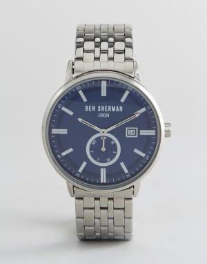 Ben Sherman Серебристые наручные часы WB071USM. Цвет: серебряный