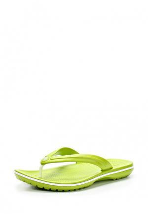 Сланцы Crocs. Цвет: зеленый