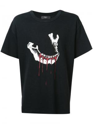 Jaw print T-shirt Amiri. Цвет: чёрный