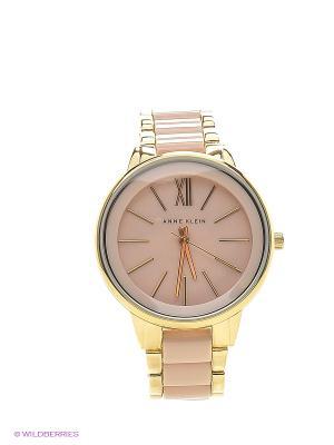 Часы ANNE KLEIN. Цвет: золотистый, бледно-розовый