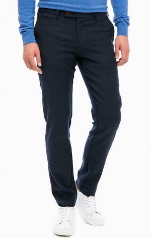 Синие брюки с высоким содержанием шерсти Gant. Цвет: синий