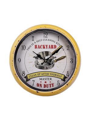 Часы настенные PATRICIA. Цвет: желтый