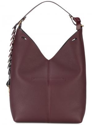 Большая сумка-мешок Anya Hindmarch. Цвет: красный
