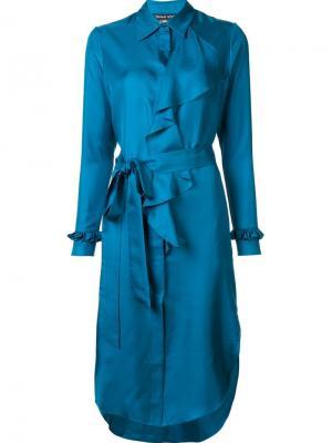 Шелковое платье  Lyric Thomas Wylde. Цвет: синий