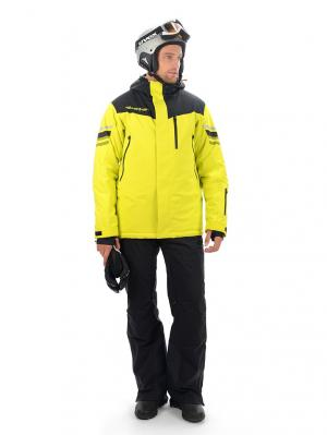 Куртка Stayer. Цвет: черный, салатовый