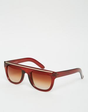 7X Солнцезащитные очки в черепаховой оправе. Цвет: коричневый