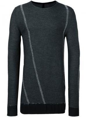 Пуловер с круглым вырезом Masnada. Цвет: чёрный
