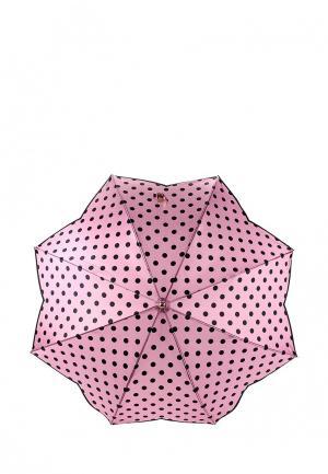 Зонт-трость Fabretti. Цвет: розовый
