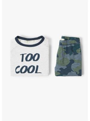 Пижамный комплект - COOL Mango kids. Цвет: серый, темно-синий, хаки