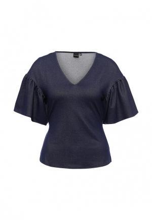 Блуза LOST INK. Цвет: синий