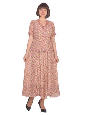Блузка Томилочка Мода ТМ. Цвет: красный, желтый
