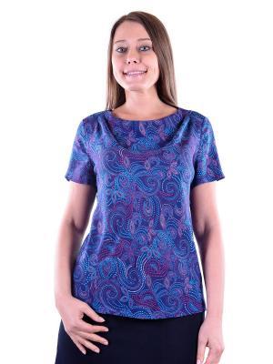 Блузка женская OLBE. Цвет: сливовый, голубой, темно-фиолетовый