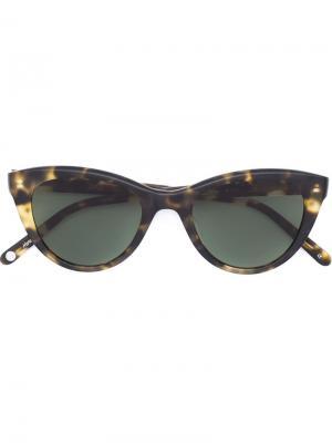 Солнцезащитные очки  x Clare V Garrett Leight. Цвет: чёрный