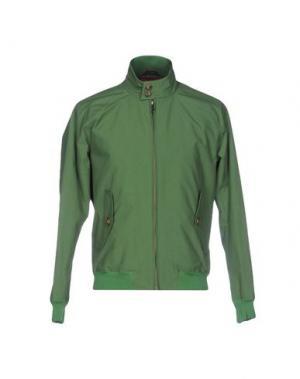Куртка BARACUTA. Цвет: зеленый
