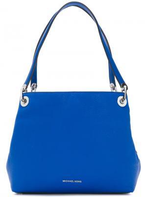 Большая сумка на плечо Raven Michael Kors. Цвет: синий