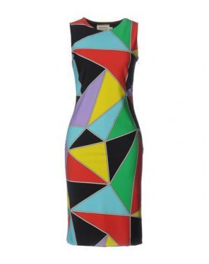 Платье до колена FAUSTO PUGLISI. Цвет: красный