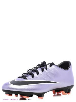 Бутсы MERCURIAL VICTORY V FG Nike. Цвет: фиолетовый