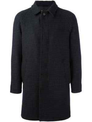 Пальто в ломаную клетку Sealup. Цвет: серый