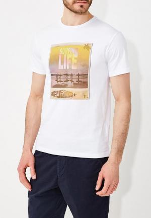 Футболка Trussardi Jeans. Цвет: белый
