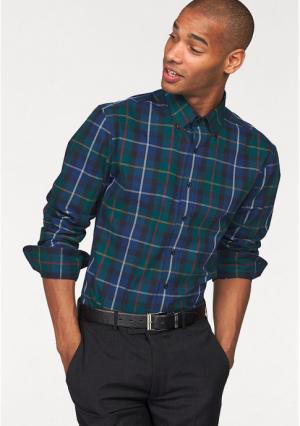 Рубашка Class International. Цвет: зелено-синий/синий в клетку