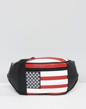 ASOS Сумка-кошелек на пояс American. Цвет: мульти