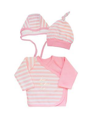 Комплект одежды: распашонка, чепчик, шапочка Коллекция Little Elephant КОТМАРКОТ. Цвет: розовый