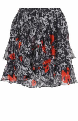 Мини-юбка с оборками и принтом Iro. Цвет: разноцветный