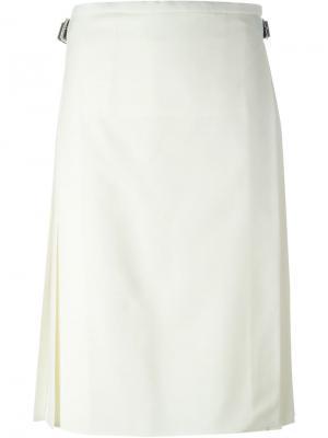 Плиссированная юбка Le Kilt. Цвет: телесный