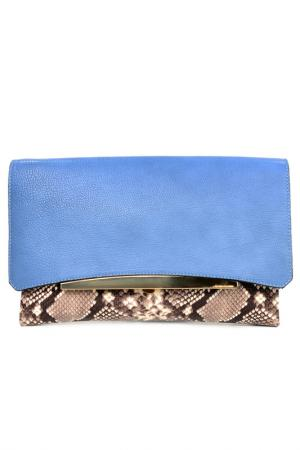 Сумка-клатч Gianni Chiarini. Цвет: голубой, бежевый, ко