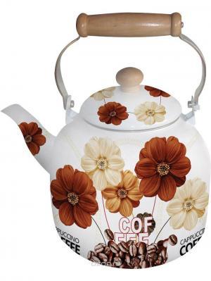 Чайник эмалированный 7л. BOHMANN. Цвет: темно-коричневый