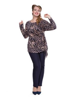 Блуза Eva Graffova. Цвет: черный, темно-бежевый
