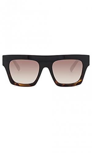 Солнцезащитные очки subdimension Le Specs. Цвет: черный