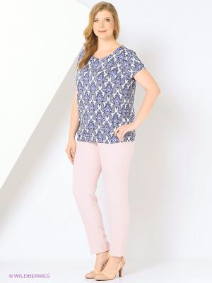 Блузка SVETLANOVA. Цвет: сиреневый, белый, голубой, синий