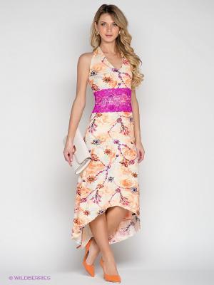 Платье Lussotico. Цвет: персиковый, розовый