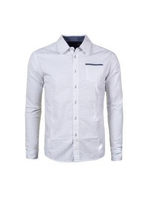 Рубашка Fresh. Цвет: белый, темно-синий