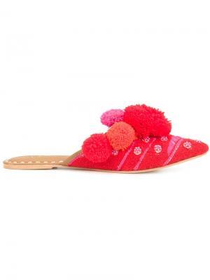 Мюли Iris Slide Figue. Цвет: красный