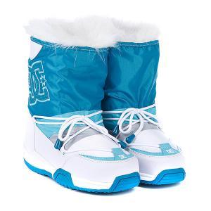 Сапоги зимние женские DC Lodge Boot White/Blue/Grey Shoes. Цвет: белый,голубой