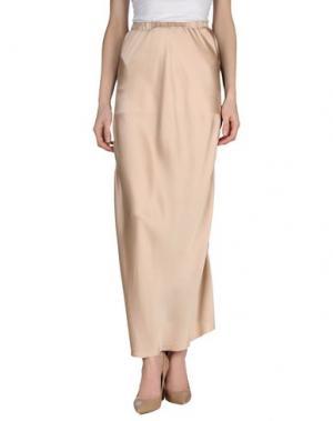 Длинная юбка ARIES. Цвет: телесный
