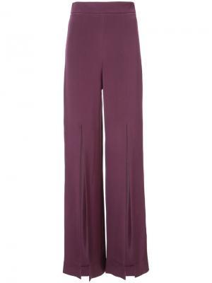 Широкие брюки с разрезами Cushnie Et Ochs. Цвет: розовый и фиолетовый