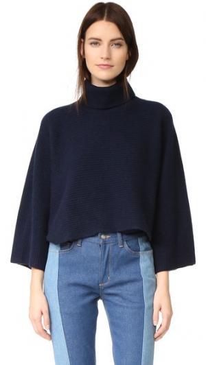 Укороченный свитер с высоким воротником Edition10. Цвет: бушлат