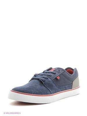 Кеды DC Shoes. Цвет: синий, зеленый
