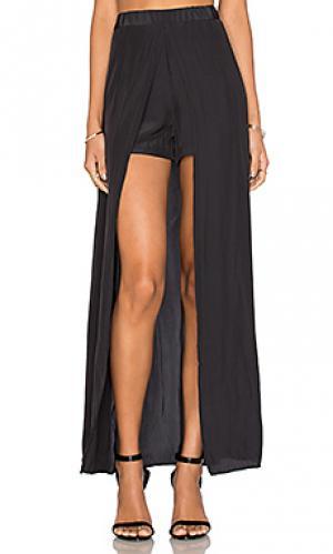 Юбка-брюки с асимметричным низом Ella Moss. Цвет: черный
