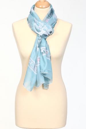 Палантин Leonard. Цвет: серо-голубой, розовый