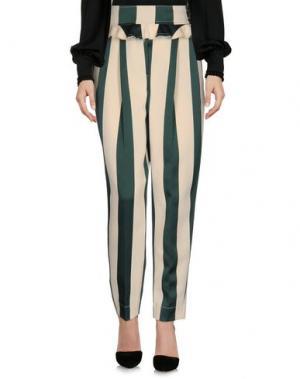 Повседневные брюки NINEMINUTES. Цвет: зеленый