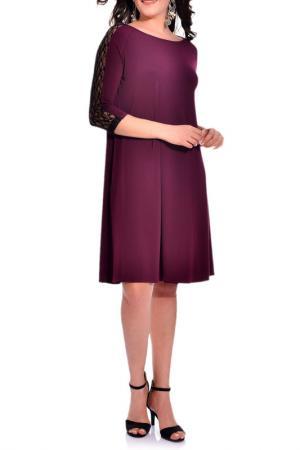 Платье VALERIA FRATTA. Цвет: фиолетовый