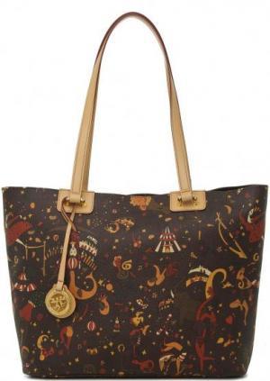Вместительная сумка с длинными ручками Piero Guidi. Цвет: коричневый