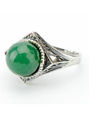 Кольцо Мираж Агат Колечки. Цвет: зеленый